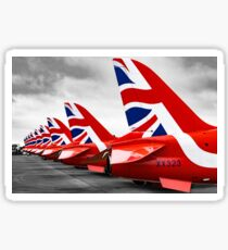 Red Arrows Tails Sticker