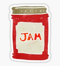 retro cartoon jam jar Sticker