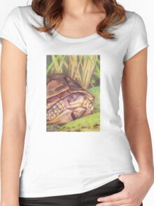 Three Toe Box Turtle Women's Fitted Scoop T-Shirt