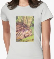 Three Toed Box Turtle Womens Fitted T-Shirt