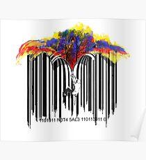 unzip the colour wave Poster