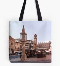 In Piazza Erbe, Verona, Italy Tote Bag