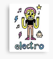 Electro Dog Canvas Print