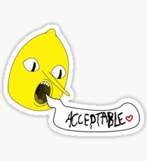 Earl of Lemongrab unacceptable  Sticker
