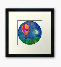 Hot air balloon at night.  Framed Print
