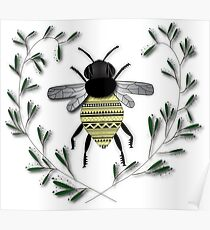 Tribal Bee Poster