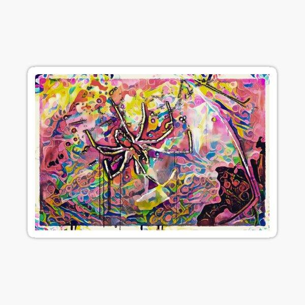Psychedelic Spider Sticker
