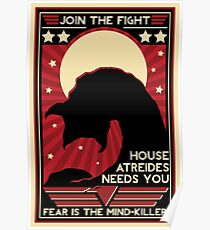 Dune House Atreides Needs You Fear Is The Mindkiller Poster