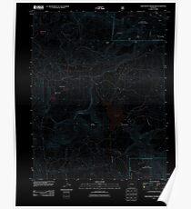 USGS TOPO Map Colorado CO Groundhog Reservoir 20110615 TM Inverted Poster