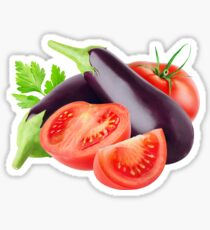 Eggplants and tomatoes Sticker