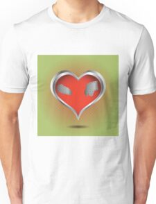abstract red heart Unisex T-Shirt