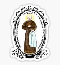 St Maximilian Kolbe Patron of Selfless Humility Sticker