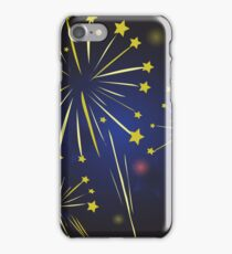 Starry fireworks iPhone Case/Skin
