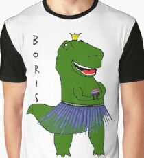 Chas Boris Dinosaur Graphic T-Shirt