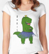 Chas Boris Dinosaur Women's Fitted Scoop T-Shirt