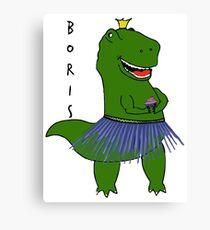 Chas Boris Dinosaur Canvas Print