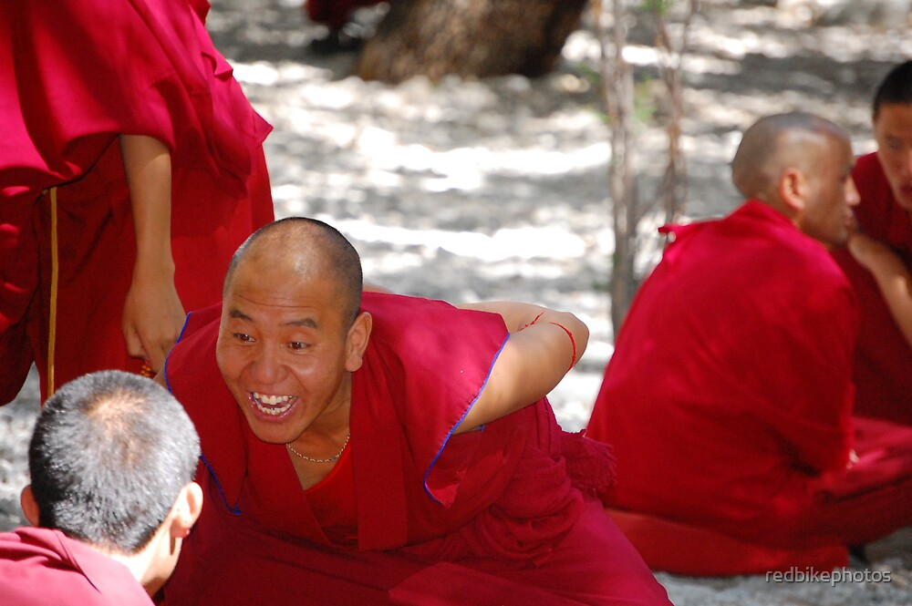 happy monk  by redbikephotos