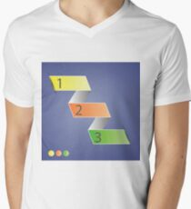 Minimal style infographic template Men's V-Neck T-Shirt