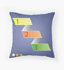 Minimal style infographic template Throw Pillow
