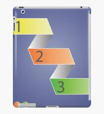 Minimal style infographic template iPad Case/Skin