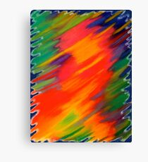 Rhapsody of Colors (v.2) – Abstract Pastel Drawing Canvas Print