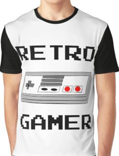 Retro Gamer with Controller Graphic T-Shirt