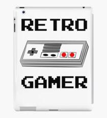 Retro Gamer with Controller iPad Case/Skin
