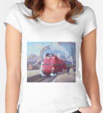 German streamliner. Women's Fitted Scoop T-Shirt