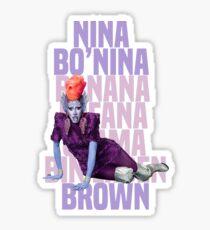 NINA BO'NINA (BANANA FOFANA OSAMA BIN LADEN) BROWN Sticker