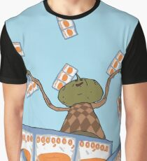 Clarence raining Big Lez Show Graphic T-Shirt