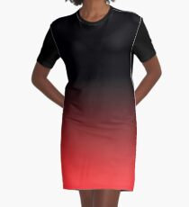 Black and Red Graphic T-Shirt Dress