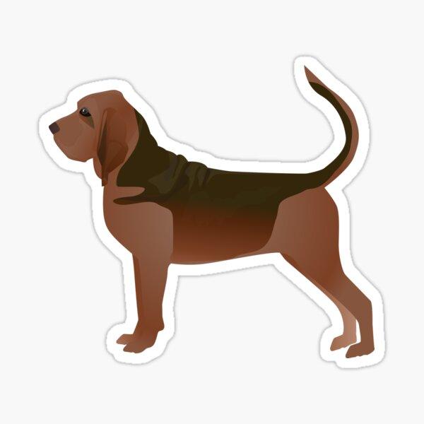 Bloodhound Dog Breed Illustration Silhouette Sticker