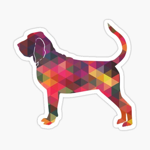 Bloodhound Dog Breed Geometric Silhouette Multi Sticker