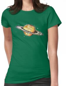 Saturn Womens Fitted T-Shirt