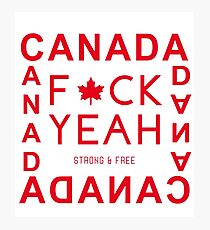 Canada - Strong & Free Photographic Print
