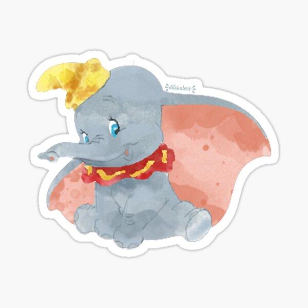 Elefante Acuarela (Dumbo) Pegatina
