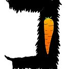 Carrot Eating Scottie Dog by HazelTerry