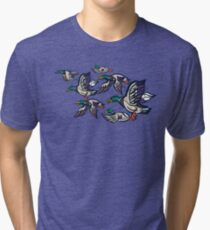 Male Mallard ducks Tri-blend T-Shirt