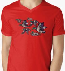 Male Mallard ducks Mens V-Neck T-Shirt