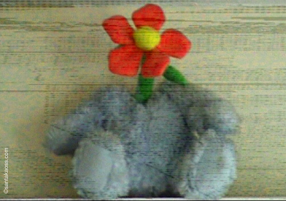 Fluffy Monster Flower Head by santakaoss