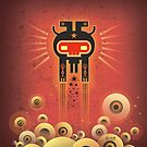 ELECTROCHAMAN Red face by Exit  Man