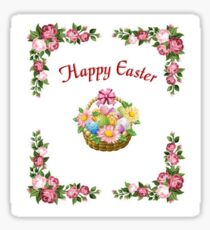 Happy Easter Basket Sticker