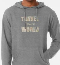 Travel the world Sudadera con capucha ligera