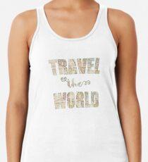 Travel the world Camiseta de tirantes para mujer