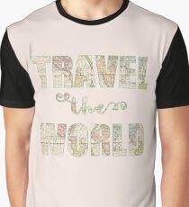 Travel the world Camiseta gráfica