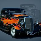 """1934 Ford Hot Rod """"The California Kid"""" by TeeMack"""