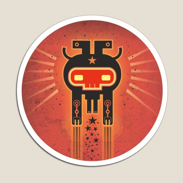 ELECTROCHAMAN Red face Magnet