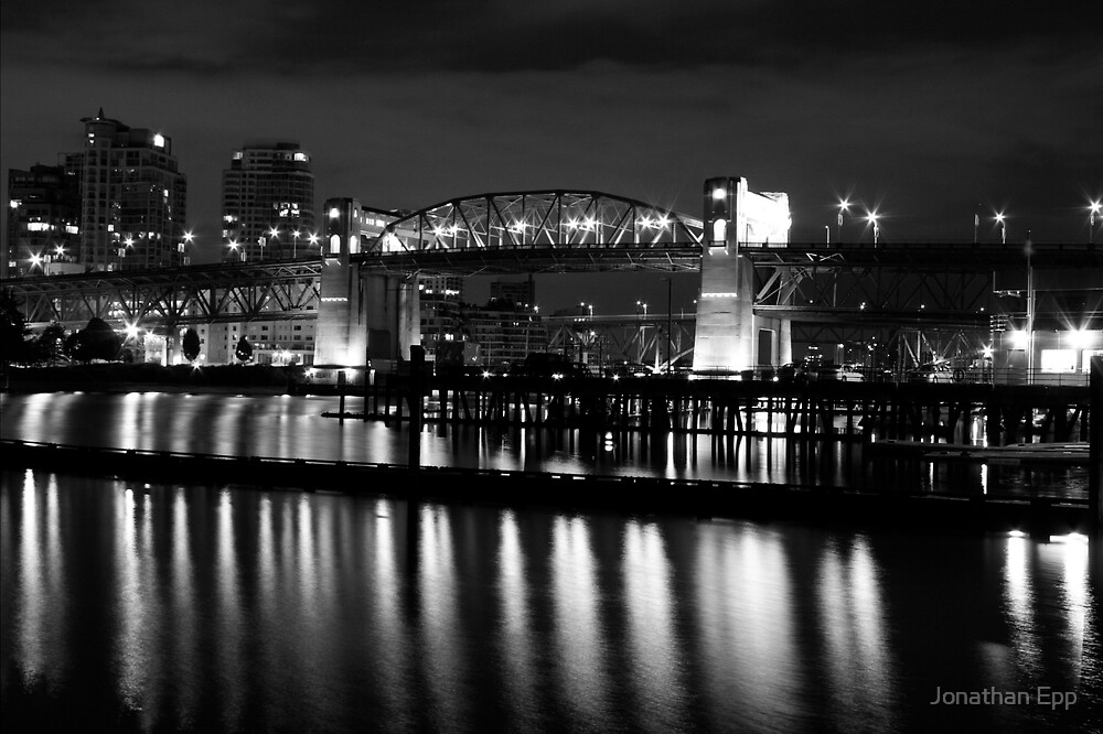 Burrard Bridge at night by Jonathan Epp