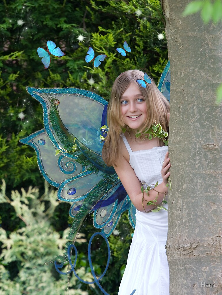 The Blue Butterfly Fairy by Harri