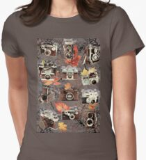Vintage cameras ( Autumn ) Womens Fitted T-Shirt